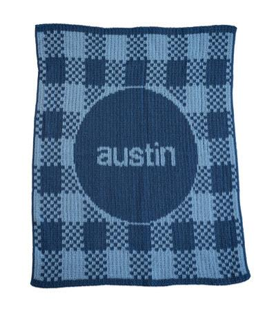 Personalized Knit Gingham Blanket   Home & Garden > Linens & Bedding > Bedding > Blankets > Throws