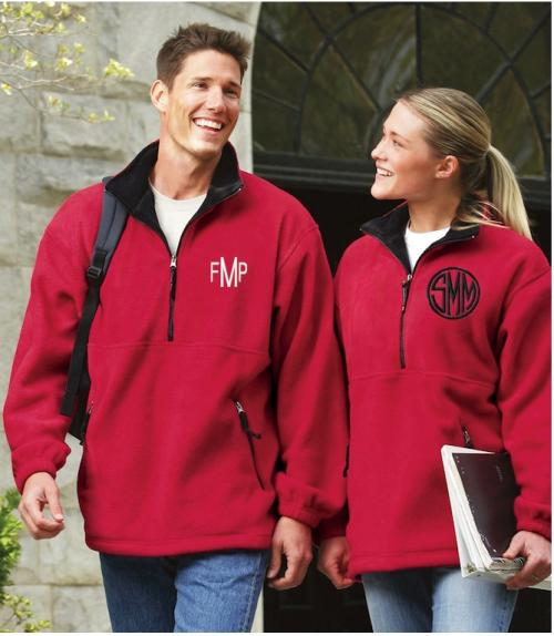 Monogrammed Charles River Adirondack Fleece Pullover  Apparel & Accessories > Clothing > Outerwear > Coats & Jackets > Fleece Jackets