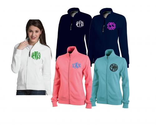 Ladies Personalized Cozy Full Zip Sweatshirt  Apparel & Accessories > Clothing > Activewear > Active Jackets