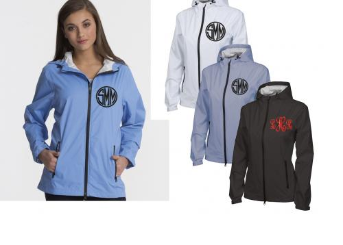 Monogrammed Charles River Ladies Watertown Hooded jacket   Apparel & Accessories > Clothing > Outerwear > Rain Gear > Raincoats