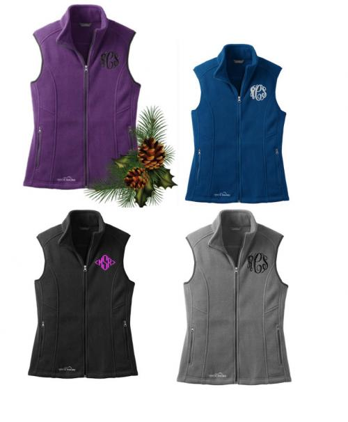 Monogrammed Ladies Eddie Bauer Fleece Vest   Apparel & Accessories > Clothing > Outerwear > Vests
