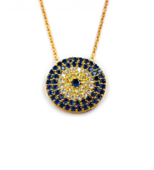 Round Evil Eye Necklace  Apparel & Accessories > Jewelry > Necklaces