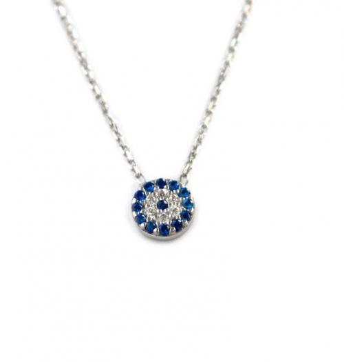 Round Evil Eye Necklace with Stones  Apparel & Accessories > Jewelry > Necklaces