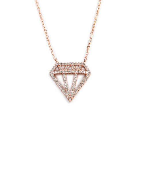 Diamond Necklace with 40 CZs All Over   Apparel & Accessories > Jewelry > Necklaces