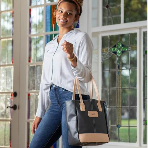 Jon Hart Designs Personalized Alamo Heights Tote   Luggage & Bags > Shopping Totes