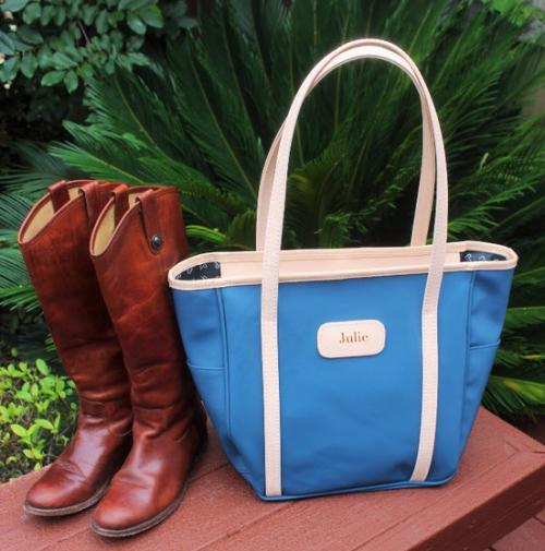 Personalized Odessa Tote From Jon Hart Designs  Luggage & Bags > Shopping Totes