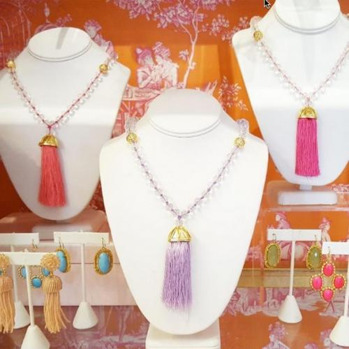 Lisi Lerch Haley Tassel Necklace Several Colors  Apparel & Accessories > Jewelry > Necklaces