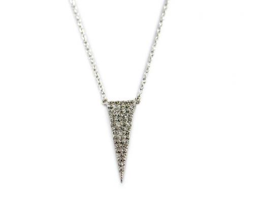 Diamond Necklace with 48 1 Point CZs All Over   Apparel & Accessories > Jewelry > Necklaces