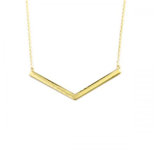 V Necklace with High Polish Finish   Apparel & Accessories > Jewelry > Necklaces