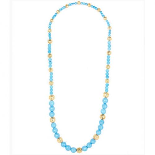 Lisi Lerch Nina Turquoise Beaded Necklace Lisi Lerch Nina Necklace Apparel & Accessories > Jewelry > Necklaces