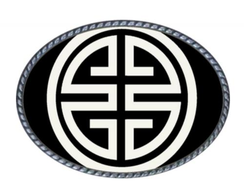 Loopty Loo Athena Black and White Belt Buckle Athena - Black/White Belt Buckle Apparel & Accessories > Clothing Accessories > Belt Buckles