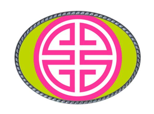 Loopty Loo Athena Lime and Hot Pink Belt Buckle Athena - Lime/Hot Pink Belt Buckle Apparel & Accessories > Clothing Accessories > Belt Buckles
