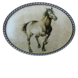 Loopty Loo Horse Trotter Belt Buckle  Loopty Loo Horse Trotter Belt Buckle  Apparel & Accessories > Clothing Accessories > Belt Buckles