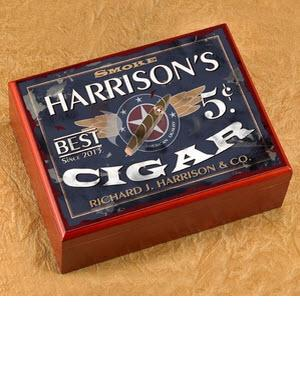 Personalized Patriot Cigar Humidor  Personalized Cigar Humidor Patriot   Home & Garden > Smoking Accessories
