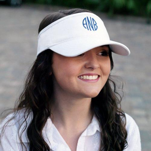 ON SALE! Monogrammed Ladies Sun Visors More Colors  Apparel & Accessories > Clothing Accessories > Hats > Visors