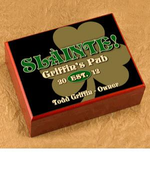 Personalized Clover Cigar Humidor  Personalized Cigar Humidor Gold Clover  Home & Garden > Smoking Accessories