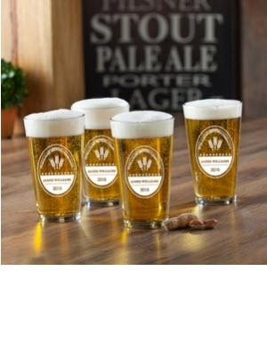 Personalized Glass Set Brewing Company Pub   Home & Garden > Kitchen & Dining > Tableware > Drinkware > Pint Glasses