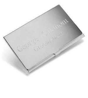 Personalized Engraved Business Card Case Silver Plated  Personalized Engraved Business Card Case Silver Plated   Office Supplies > General Supplies > Paper Products > Business Cards