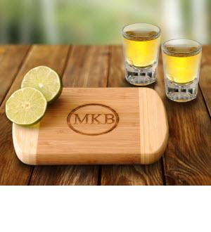 Bamboo Bar Board with Two Shot Glasses Bamboo Bar Board with 2 Shot Glasses  Home & Garden > Kitchen & Dining > Kitchen Tools & Utensils > Cutting Boards