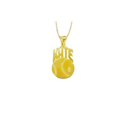 Monogrammed Baseball Necklace For Mom  Apparel & Accessories > Jewelry > Necklaces