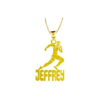 Personalized Track Runner Necklace   Apparel & Accessories > Jewelry > Necklaces
