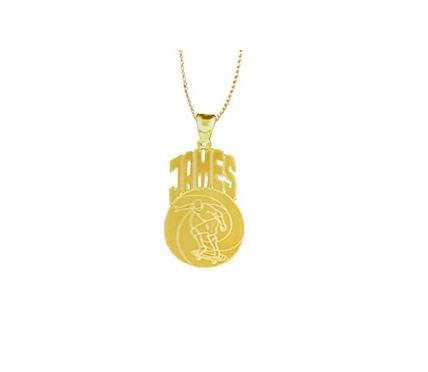 Monogrammed Skateboard Necklace   Apparel & Accessories > Jewelry > Necklaces