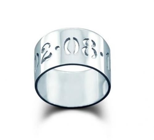 Sterling Silver Cut-Out  Date Ring 10 mm  Apparel & Accessories > Jewelry > Rings