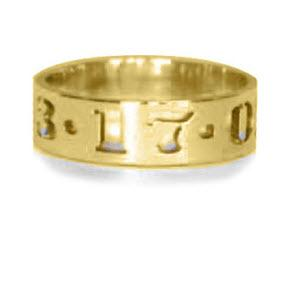 Ring With Cut-Out Date Ring 7mm  Apparel & Accessories > Jewelry > Rings