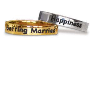 Sterling Silver Skinny Ring with Name Laser Engraved   Apparel & Accessories > Jewelry > Rings