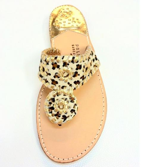 Leopard with gold trim classic sandals Leopard with gold time NULL