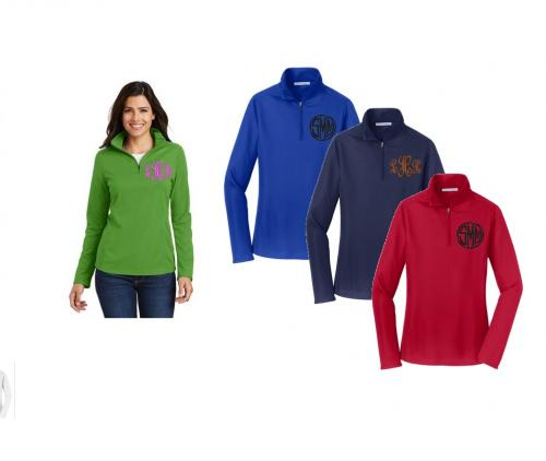 Monogrammed Ladies Pinpoint Mesh Pullover  Apparel & Accessories > Clothing > Activewear > Active Shirts