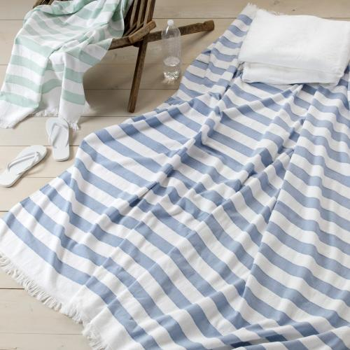 Matouk Amado Cotton Beach Blanket  Home & Garden > Linens & Bedding > Towels > Beach Towels