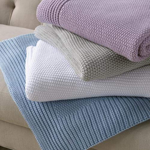Matouk Esme Cotton Throw Soft and Cuddly  Home & Garden > Linens & Bedding > Bedding > Blankets > Throws