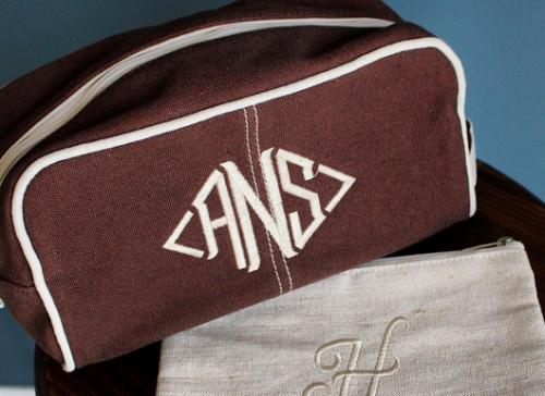 Personalized Men's Canvas Travel Dopp Kit   Luggage & Bags > Luggage Accessories > Packing Organizers