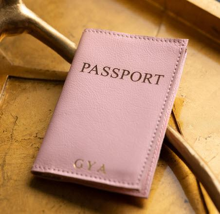 Jon Hart Personalized Leather Passport Covers  Luggage & Bags > Luggage Accessories > Travel Pouches