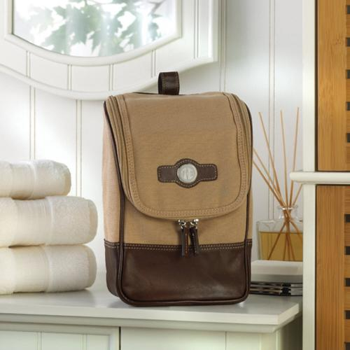 Personalized Travel Kit in Canvas and Leather Personalized Travel Kit in Canvas and Leather  Luggage & Bags > Toiletry Bags