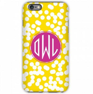 Monogrammed iPhone Case Hole Punch Pattern  Electronics > Communications > Telephony > Mobile Phone Accessories > Mobile Phone Cases