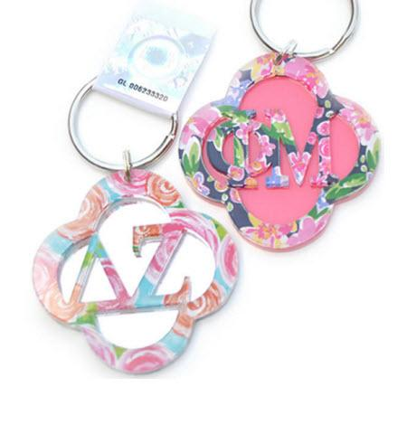Monogrammed Sorority Layered Key chain   Luggage & Bags > Luggage Accessories > Keychains