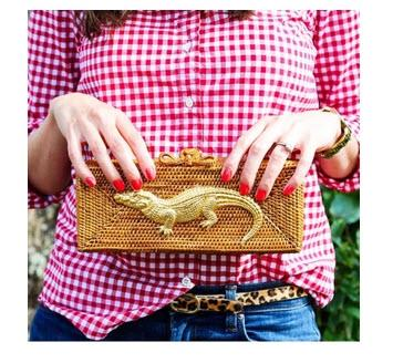Colett Clutch with Large Adornment  Apparel & Accessories > Handbags > Clutches & Special Occasion Bags