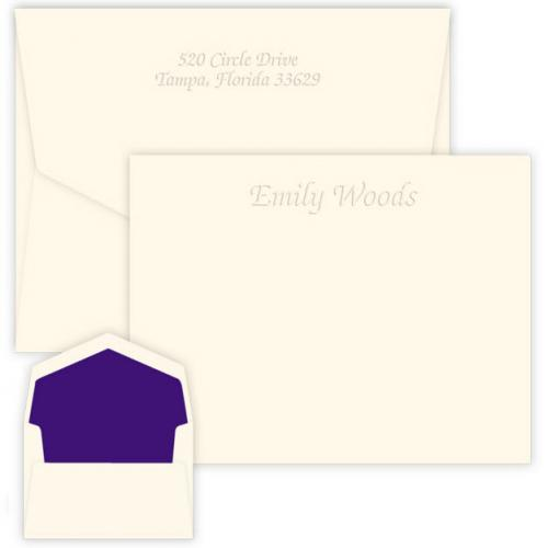 Embossed Graphics Personalized Mayfair Embossed Correspondence Card  Office Supplies > General Supplies > Paper Products > Stationery