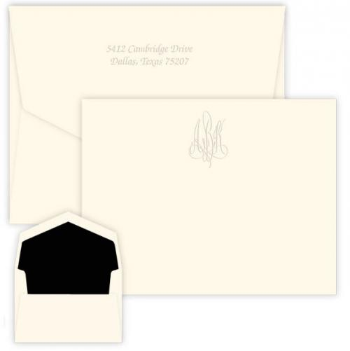 Personalized Roberta Embossed Monogram Correspondence Card  Office Supplies > General Supplies > Paper Products > Stationery