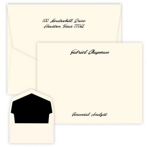 Embossed Graphics Personalized Atlantis Raised Ink Correspondence Card  Office Supplies > General Supplies > Paper Products > Stationery