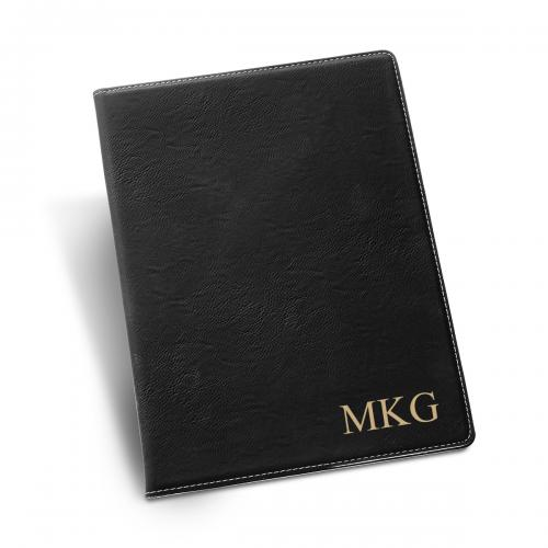 Monogrammed Black Portfolio Personalized Black Portfolio Office Supplies > Filing & Organization > Report Covers & Portfolios