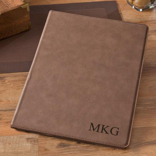 Monogrammed Mocha Portfolio Personalized Monogrammed Portfolio Mocha  Office Supplies > Filing & Organization > Report Covers & Portfolios
