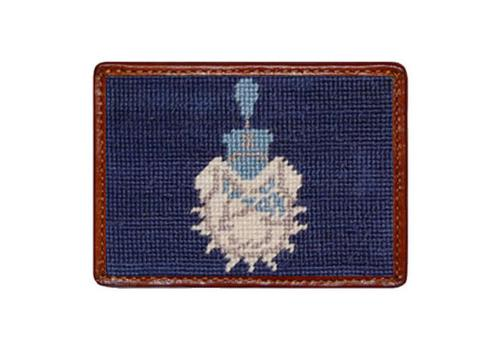 Smathers and Branson The Citadel Needlepoint Card Leather Wallet Smathers and Branson Citadel Needlepoint Card Wallet Apparel & Accessories > Clothing Accessories > Wallets & Money Clips