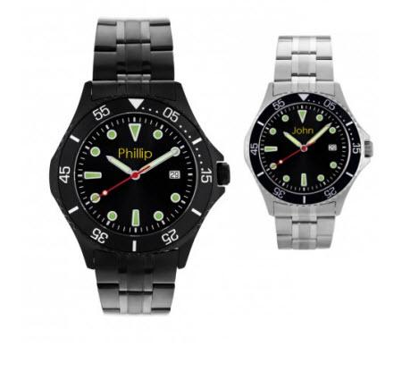 Personalized Watch Mens in Stainless Steel  Apparel & Accessories > Jewelry > Watches
