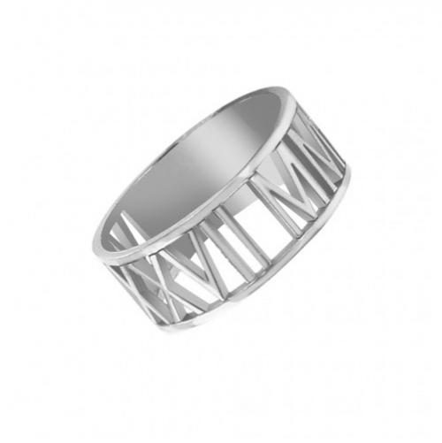 Personalized Ring in Roman Numerals and Sterling Silver   Apparel & Accessories > Jewelry > Rings