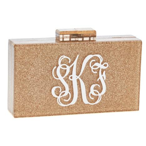 Monogrammed Diana Clutch  Apparel & Accessories > Handbags > Clutches & Special Occasion Bags