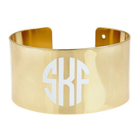 Monogrammed Charleston Cuff  Apparel & Accessories > Jewelry > Bracelets