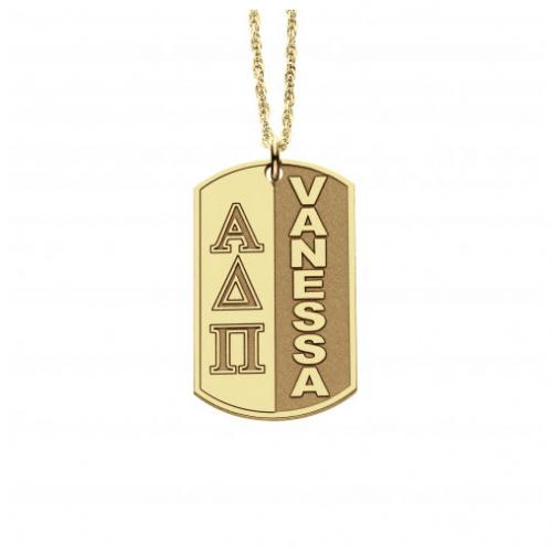 Sorority Greek Persoanlzied Dog Tag Necklace  Apparel & Accessories > Jewelry > Necklaces